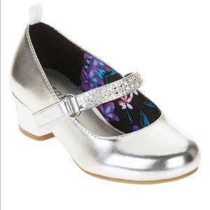 George Girls' Rhinestone Heeled Dress Shoe Size 3